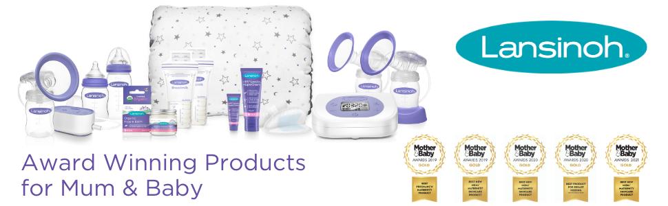 Prisbelönta produkter av Lansinoh för att stödja amningsmammor