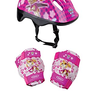 PAW PATROL DARP OPAW004 F Skye Helmet with Knee, Elbow Pad and Bag Protection Pack