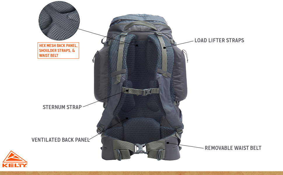 kelty 44 exclusive redwing dark shadow hiking backpack