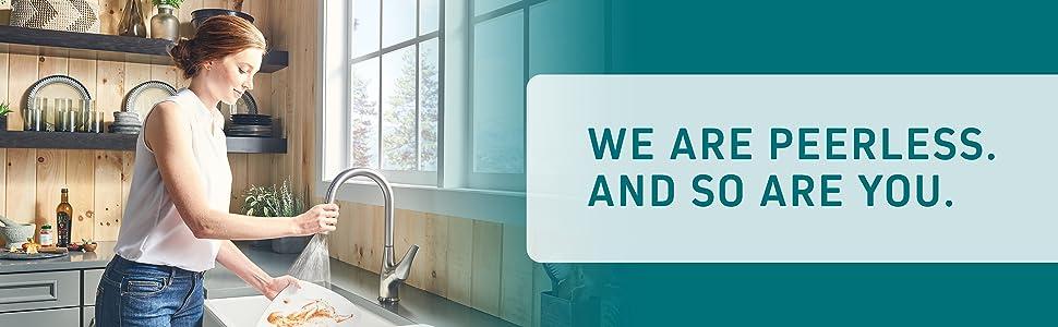 Peerless, kitchen faucet, faucet, kitchen sink faucet