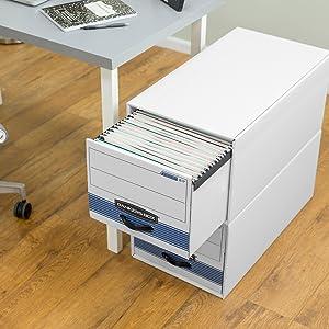 storage drawer, storage drawers, drawer, drawers, bankers box