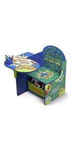 Chair Desk With Storage, Nickelodeon Ninja Turtles