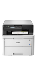 Brother HL-L3290CDW Compact Digital Color Printer Providing Laser Printer Quality Results with Convenient Flatbed Copy & Scan, Wireless Printing and ...