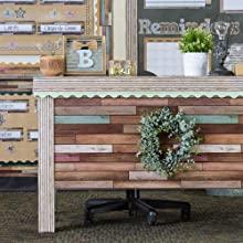 Better Than Paper Reclaimed Wood Teacher Desk