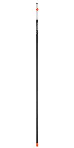 Negro y Plata Gardena 3734-20 Mango ergonomico 130 cm Aluminio