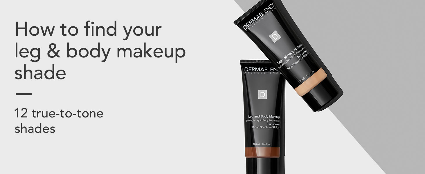 dermablend, leg and body makeup, shade