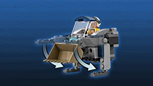 Mini-Weltraumkehrer mit Bergungsschaufel und Platz für eine Minifigur.