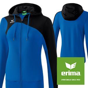 Erima Damen Club 1900 2.0 Trainingsjacke, mit Kapuze  Amazon.de ... cc553cfc57