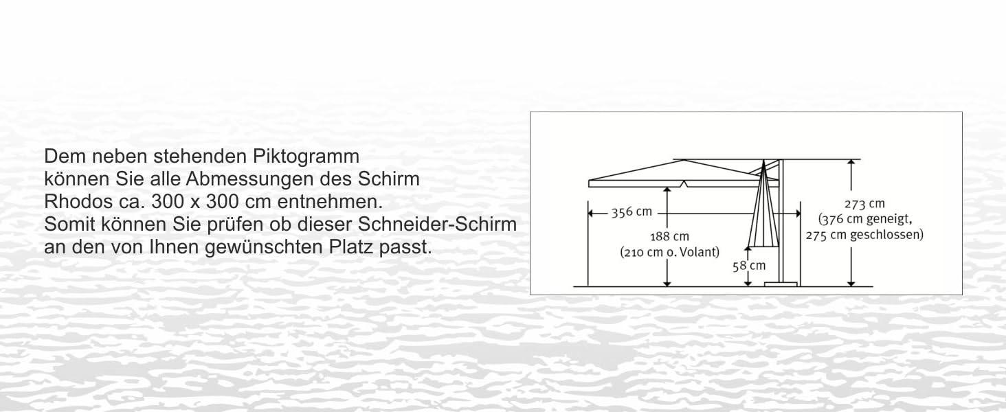 schneider sonnenschirm rhodos terracotta 300x300 cm quadratisch gestell aluminium stahl. Black Bedroom Furniture Sets. Home Design Ideas