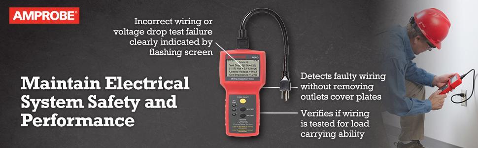 amprobe insp 3 wiring inspection tester voltage testers amazon cominsp 3 wiring inspection tester