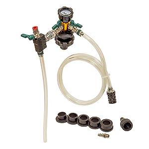 pressure tester radiator; radiator leak tester; coolant tester;