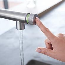 push button kitchen faucet