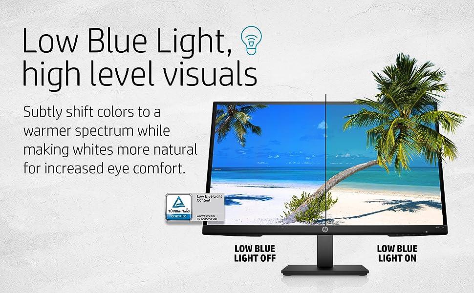 HP M27ha FHD Monitor Low Blue Light