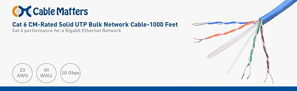 Amazon.com: [UL Listed] Cable Matters In-Wall Rated (CM) Bare Copper ...