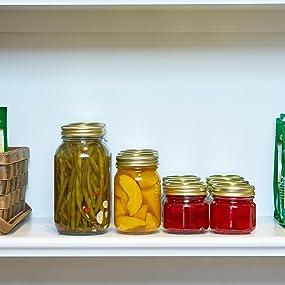 Anchor Hocking, Canning, Canning Jars, Canning Jar, 1/2 Pint, 1 Pint, 1 quart