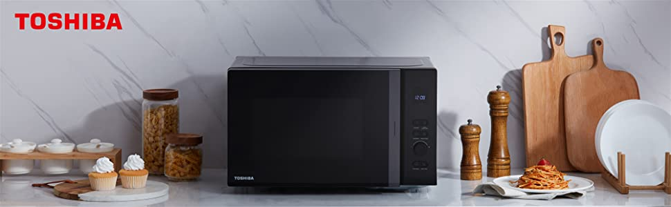 Toshiba Microwave Oven 20l Mv Am20t Bk 850w With 12 Auto