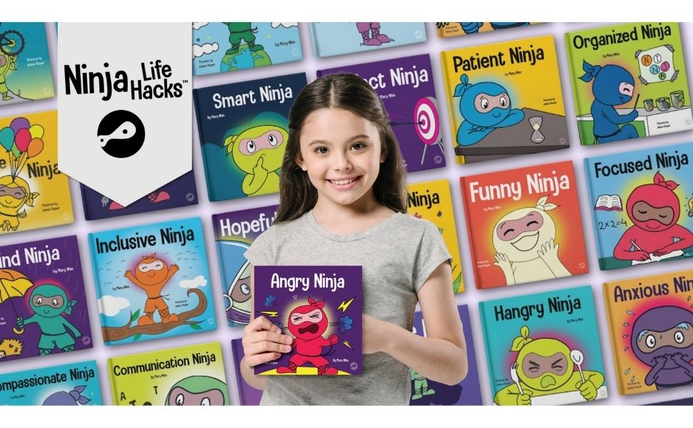 kindness is my superpower ninja life hacks book set ninja box set Mary Nhin Diane alber Adir levy - Angry Ninja: A Children's Book About Fighting And Managing Anger (Ninja Life Hacks)
