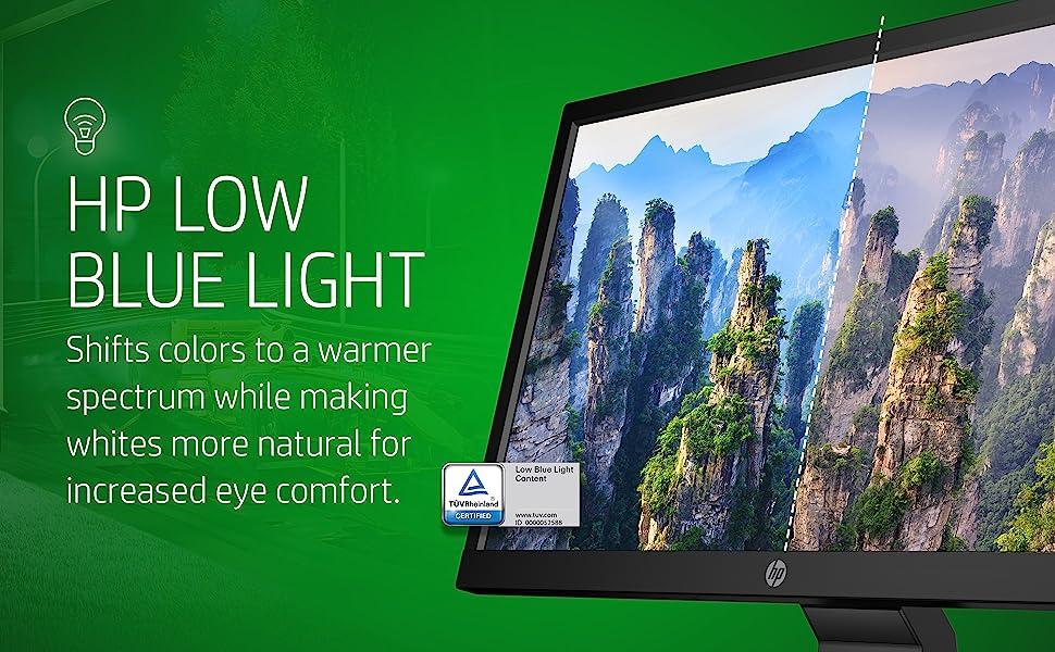 HP V20 HD+ Monitor Low Blue Light