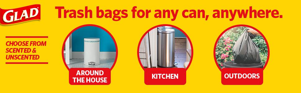 garbage;bags;trash;4;gallon;glad;bathroom;can;liners;drawstring;bag;car;bulk;small;bedroom;plastic