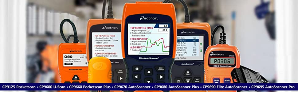 Actron CP9125 C CP9600 CP9660 CP9670 CP9680 CP9690 CP9695 Diagnostic Scan Tool Code Reader MIL ABS