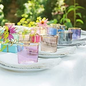lsa international handmade glass mouthblown by artisans sorbet collection tumblers gifts