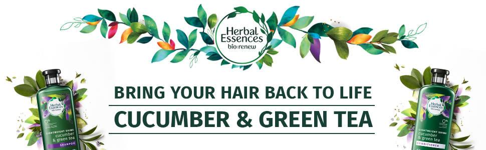 Herbal Essences Cucumber and Green Tea Shine Shampoo Conditioner collection