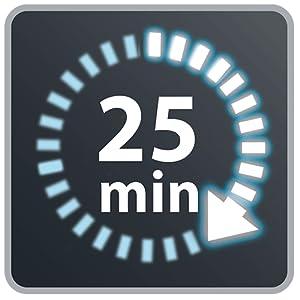 Autonomía hasta 25 minutos