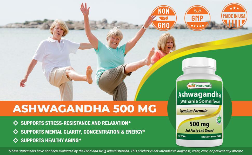 Ashwagandha 500mg 120 Capsules