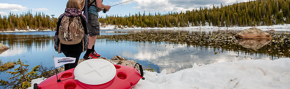 Creekkooler - Insulated, Floating Cooler - Kayak-like hull design - With you for every adventure