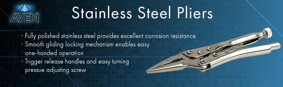 Aven stainless steel vice grip locking pliers