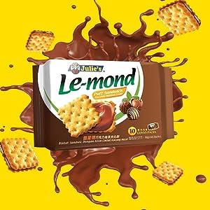 Julie's Lemond Chocolate Hazelnut Sandwich