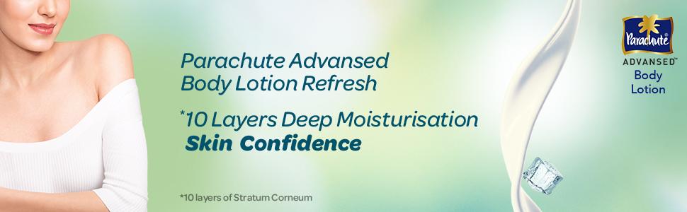 parachute advansed refresh body lotion,summer fresh,mint body lotion,body lotion,refresh lotion