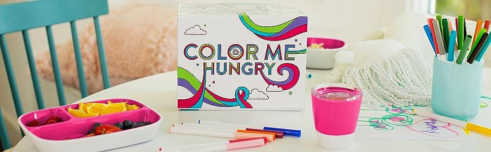 Munchkin Coffret Repas Enfant Colour Me Hungry Rose