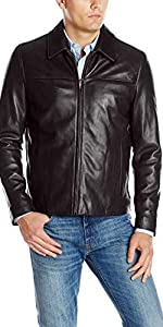 Smooth Leather Collar Jacket