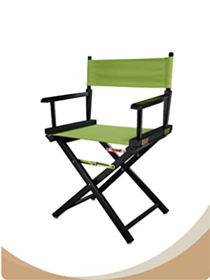 Casual Home 30-Inch Director Chair White Frame Navy Blue Canvas
