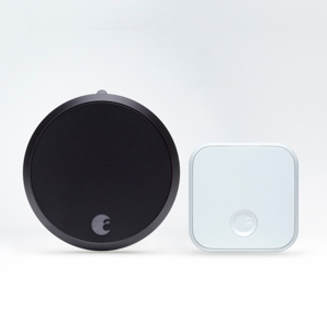 August Smart Lock Pro + Connect gray