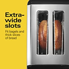 wide slot toaster