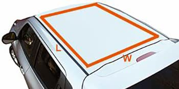 car roof, vehicle rooftop, SUV roof, car roof measurements, car top dimensions