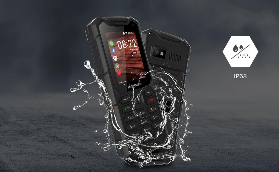 hammer 5 smart, teléfono de trabajo, teléfono resistente, teléfono impermeable