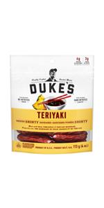 Duke's, Smoked, Shorty, Sausages, Teriyaki