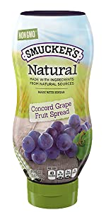 Smucker's Squeeze Natural Concord Grape jelly, PBamp;J, peanut butter and jelly, jam