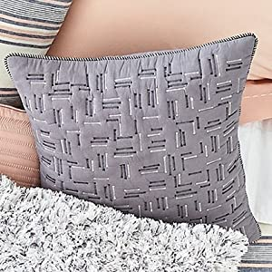 splendid quilted voile throw pillow soft cotton