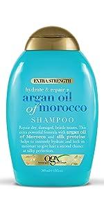 extra strength hydrate & repair + argan oil of morocco shampoo