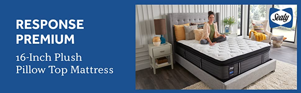 Sealy Response Premium 16-Inch Plush Euro Pillow Top Mattress