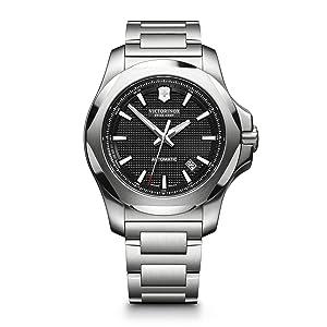 I.N.O.X. Mechanical Lg, black dial, stainless steel bracelet