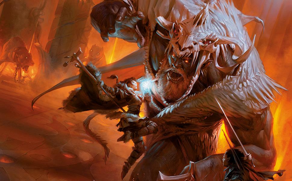 Player's Handbook Cover Art, Fire Giant