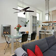 Ceiling fans for rooms with high ceilings
