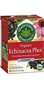 Traditional Medicinals Organic Echinacea Plus Elderberry Seasonal Tea