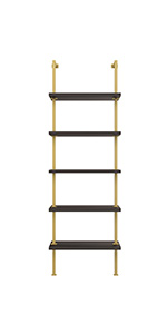 modern bookcase, gold bookshelf, wood and metal bookshelf, modern bookcase black, wooden shelf
