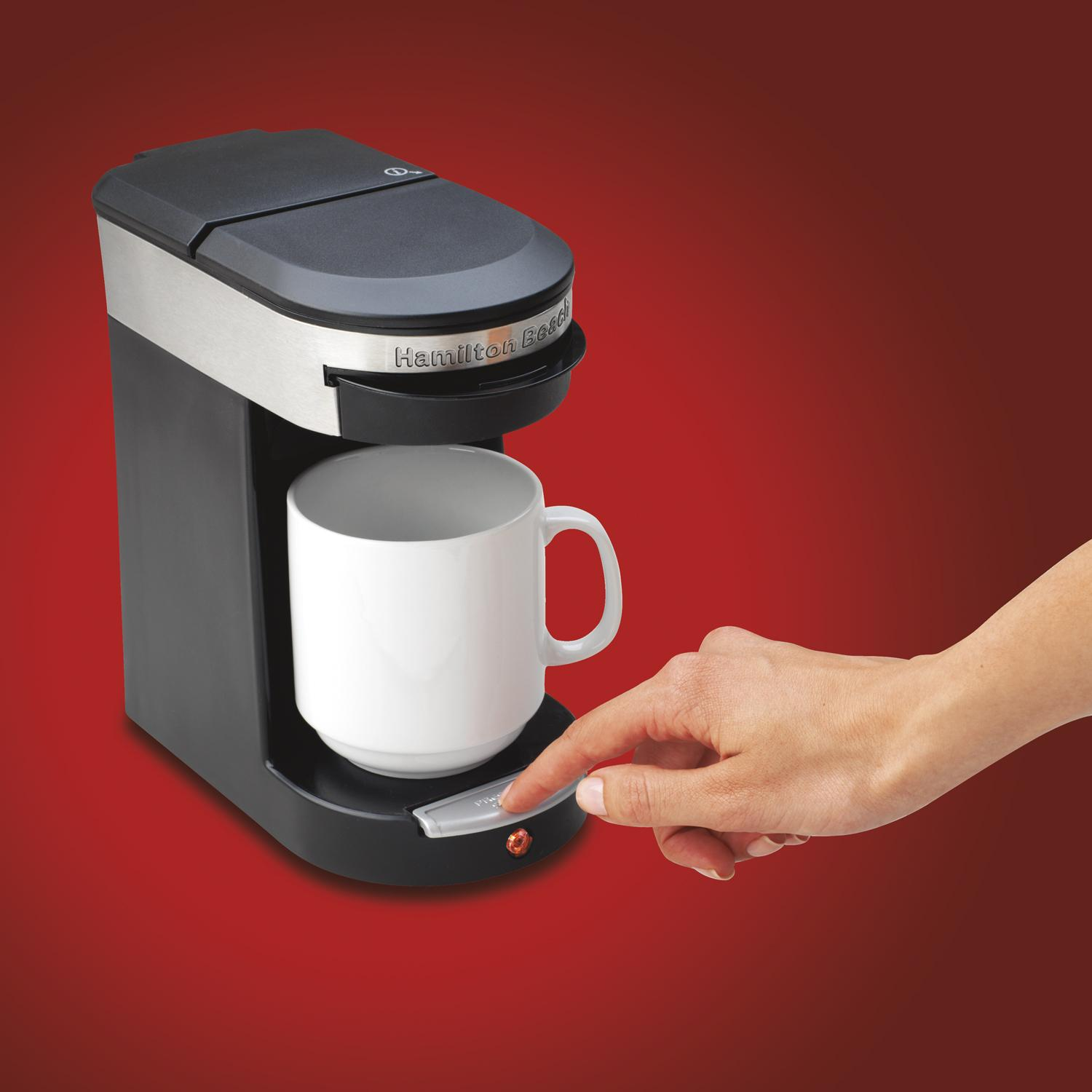 Coffee Maker Cooking Hacks : Amazon.com: Hamilton Beach 49970 Personal Cup One Cup Pod Brewer: Single Serve Brewing Machines ...